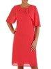Elegancka sukienka z asymetryczną falbaną przy dekolcie 22956