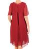 Elegancka sukienka ze zwiewnego szyfonu, kreacja z koronkową lamówką 30698