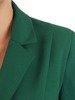 Elegancki zielony żakiet, zapinany na guziki 26767