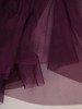 Fioletowa sukienka gorsetowa, kreacja z tkaniny i tiulu 24885