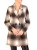Flauszowy płaszcz damski z kołnierzem i kieszeniami 30753