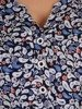 Granatowa bluzka z guzikami przy dekolcie 24444