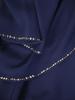 Granatowa sukienka z warstwowego szyfonu zdobiona cyrkoniami 30595