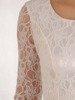 Jasna sukienka z baskinką i koronkowym topem 25406