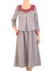 Jesienna sukienka wyszczuplająca z ozdobną kontrafałdą 30721
