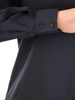 Klasyczna koszula z tkaniny w granatowym kolorze 31172