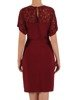 Kopertowa sukienka z ozdobnym, koronkowym karczkiem na plecach 24406