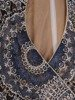 Koronkowa sukienka kopertowa, połyskująca kreacja na wieczór 25346