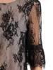 Koronkowa sukienka z ozdobnymi falbankami 28418