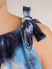 Letnia sukienka trapezowa z ozdobną falbaną 30290