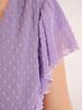 Luźna sukienka z modnymi falbankami, kreacja z szyfonu bubble 30399