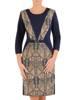 Optycznie wyszczuplająca, elegancka sukienka w oryginalnym wzorze 27508