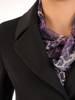 Płaszcz damski z regulującym talię wiązanym paskiem 29076