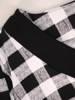 Prosta, dzianinowa tunika damska w kratkę 29557
