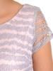 Pudrowa sukienka z koronkowym topem i wiązaniem na plecach 28294