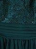 Rozkloszowana sukienka na wesele, kreacja z koronki i szyfonu 22677