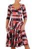Rozkloszowana sukienka w modną kratkę, kreacja z kopertowym dekoltem 22906