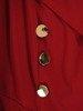 Rozkloszowana sukienka z ozdobnymi guzikami 24168