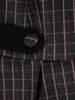 Rozkloszowana sukienka z tkaniny, kreacja z modnymi patkami 27003