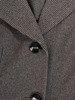 Rozkloszowana sukienka zapinana na guziki, wełniana kreacja w pepitkę 22973