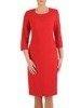 Sukienka damska, czerwona kreacja w prostym fasonie 25373