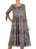 Sukienka damska w panterkę, wizytowa kreacja w luźnym fasonie 28262