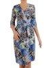 Sukienka kopertowa, letnia kreacja w kwiaty 26025