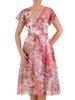 Sukienka kopertowa, zwiewna kreacja z szyfonu 25531