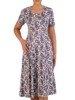 Sukienka letnia, rozkloszowana kreacja z dzianiny 26037