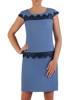 Sukienka na wesele, elegancka kreacja z tkaniny i koronki 26319