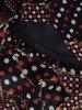 Sukienka o trapezowym kroju, kreacja z falbanami  25317