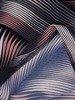 Sukienka w geometryczny wzór, prosty fason z dekoltem w serek 25954