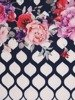 Sukienka w kwiaty, prosta kreacja z tkaniny 25645