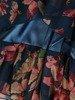 Sukienka w kwiaty, zwiewna kreacja z falbanami 26221