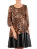 Sukienka w luźnym fasonie, jesienna kreacja z ekologicznej skóry 27893