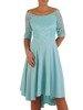 Sukienka w rozkloszowanym fasonie, kreacja z koronkowym topem 22852