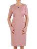 Sukienka wyjściowa, elegancka kreacja w pudrowym kolorze 25680