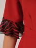 Sukienka wyjściowa, kreacja z ozdobnymi rękawami 28755