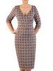 Sukienka z dzianiny, kreacja z kopertowym dekoltem 24132