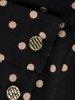 Sukienka z imitacją żakietu, prosta kreacja z ozdobnym kołnierzem 23740
