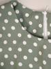 Sukienka z paskiem, wiosenna kreacja w groszki 29175