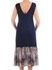 Sukienka z szyfonu, luźna kreacja z modnymi falbanami 25458