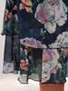 Sukienka z szyfonu, zwiewna kreacja w kwiaty 28175