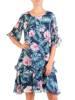 Sukienka z szyfonu, zwiewna kreacja w kwiaty 30190
