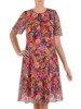 Sukienka z szyfonu, zwiewna kreacja z falbanami 26725