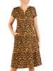 Sukienka z tkaniny, letnia kreacja w oryginalnym wzorze 30421