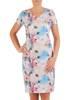 Sukienka z tkaniny, prosta kreacja w oryginalnym wzorze 26483