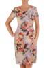 Sukienka z tkaniny, prosta kreacja w oryginalnym wzorze 26488