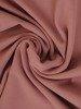 Sukienka z tkaniny, pudrowa kreacja z luźnymi rękawami 25588