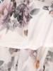 Szyfonowa kreacja z przedłużanym tyłem, sukienka w kwiaty 29297